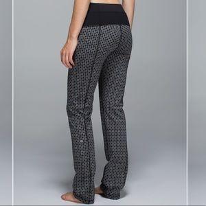 lululemon athletica Pants - Lululemon Straight-Up Pant TriGeo SilverSpoonBlack